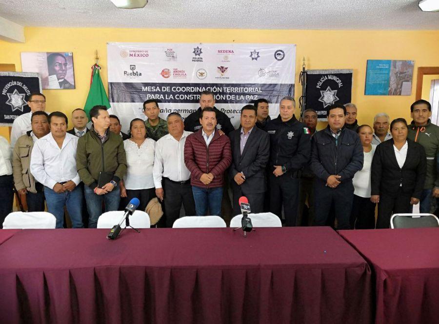 Reforzarán la seguridad en juntas auxiliares de San Pedro Cholula