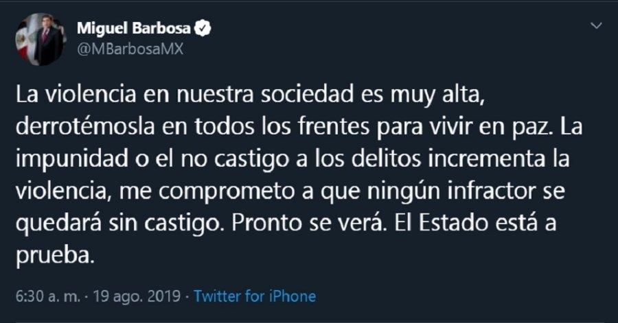 Barbosa afirma que ningún delincuente quedará sin castigo