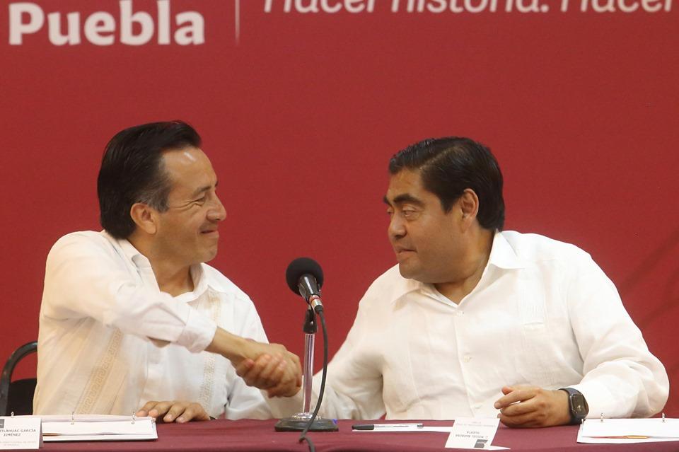 🤝 I Pactan gobernadores de Puebla y Veracruz reforzar la seguridad de manera conjunta.