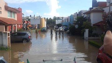 Plan DN-III-E en Cuautlancingo tras afectaciones por lluvias