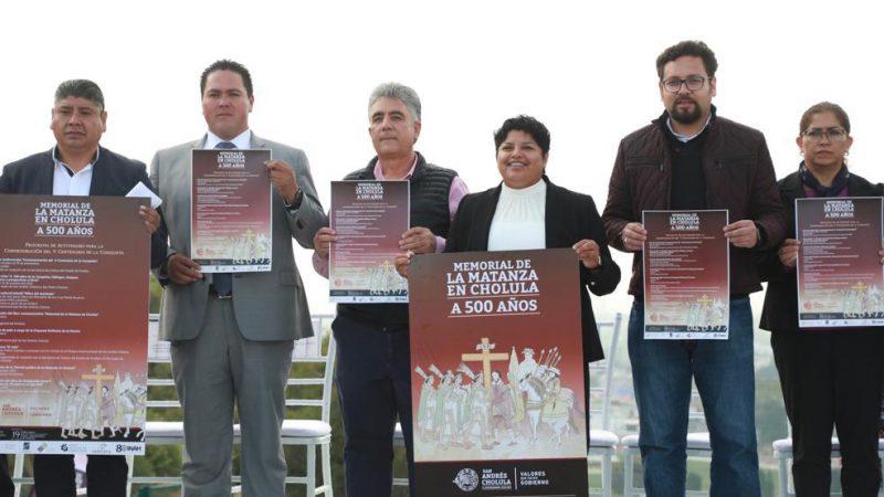 """Presentan el cartel del """"Memorial de la Matanza en Cholula. A 500 Años"""""""