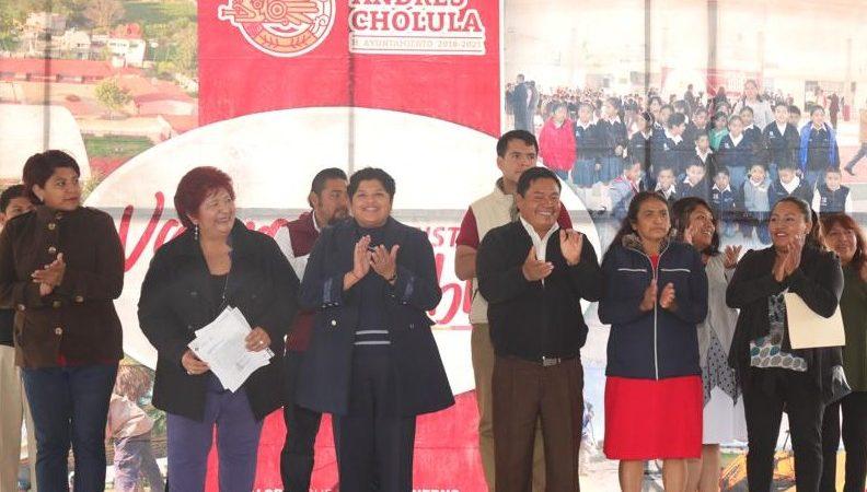 Invierte gobierno se San Andrés Cholula en obras educativas.