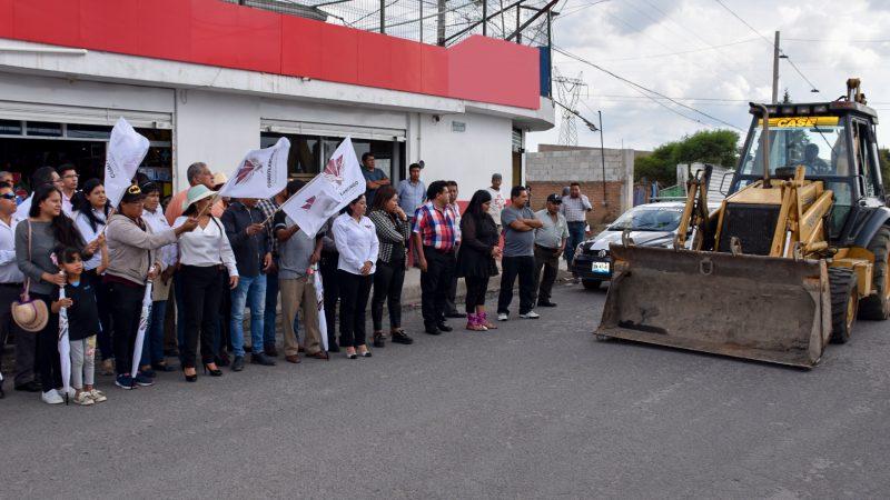 Inician obras de infraestructura en Cuautlancingo.