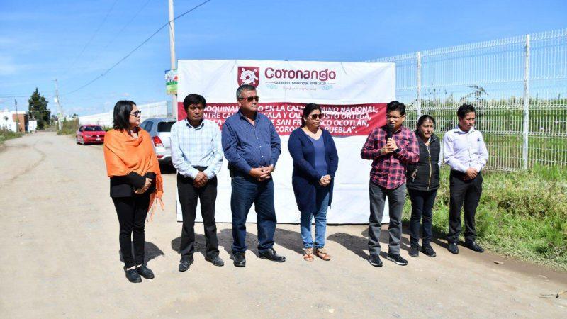 Inicia pavimentación en Camino Nacional de Coronango