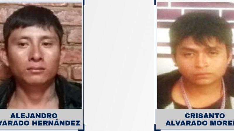 21 años de prisión por homicidio contra dos hombres.