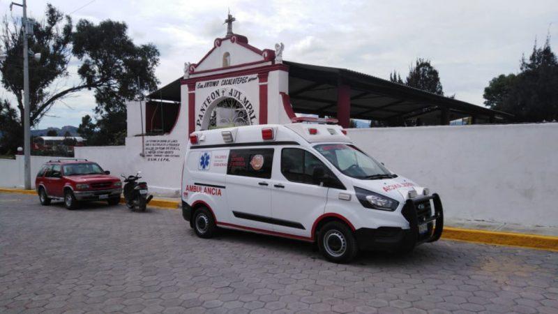 Brindan Protección Civil y Bomberos de San Andrés Cholula atención en panteones