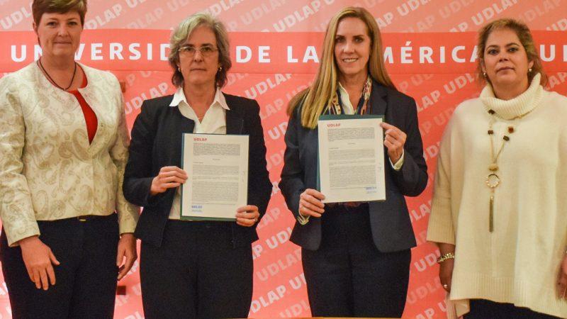 Signan convenio de colaboración UDLAP y el Colegio Americano
