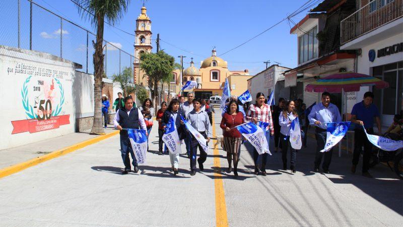 Mejoran imagen urbana de San Miguel Xoxtla