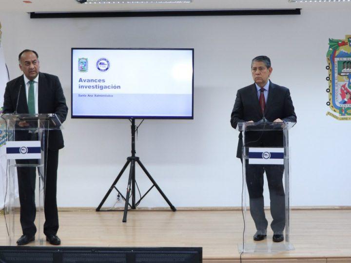 Avanza investigación de hechos ocurridos en Santa Ana Xalmimilulco