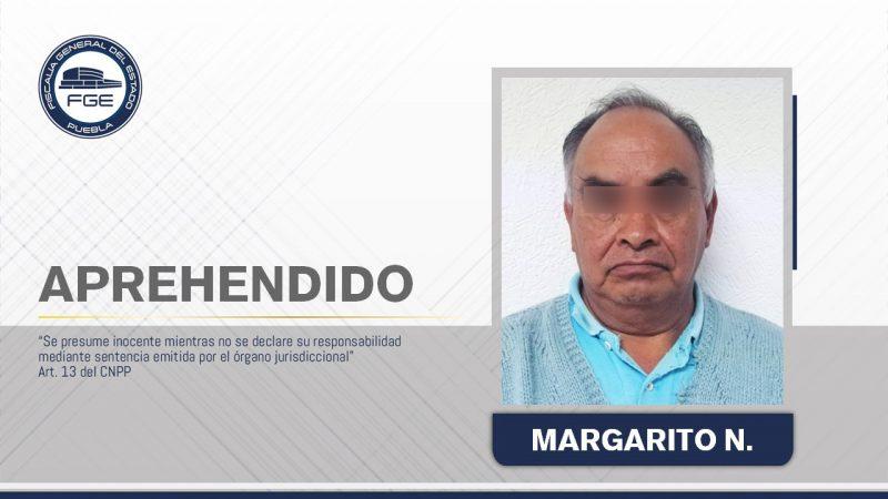 Asegura la FGE Puebla a presunto responsable del feminicidio de su pareja