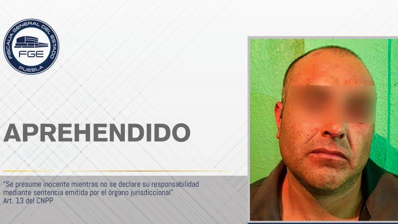 Detiene la FGE Puebla a pesunto feminicida
