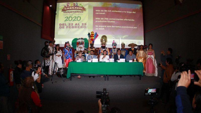 Alistan operativo de seguridad para el Carnaval de Huejotzingo