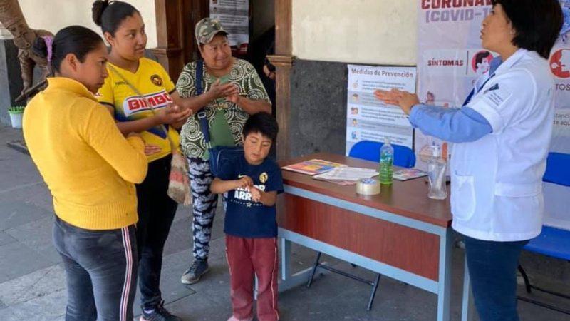 Implementan medidas sanitarias en Huejotzingo por Covid-19