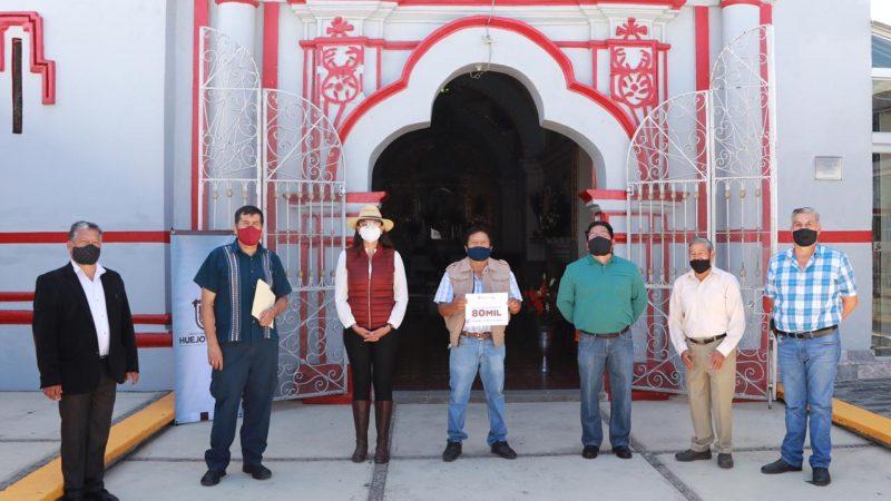 Destina recursos ayuntamiento de Huejotzingo para restauración de templos