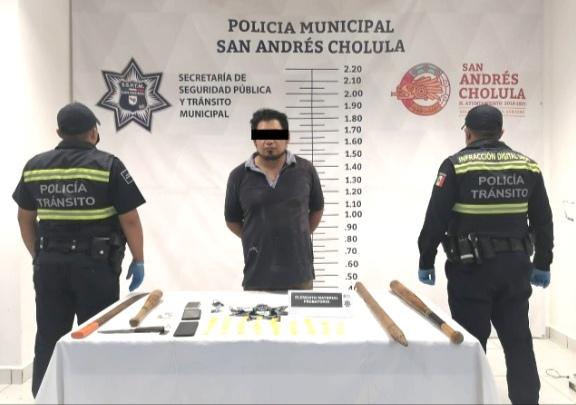 Cae presunto narcomenudista en San Andrés Cholula