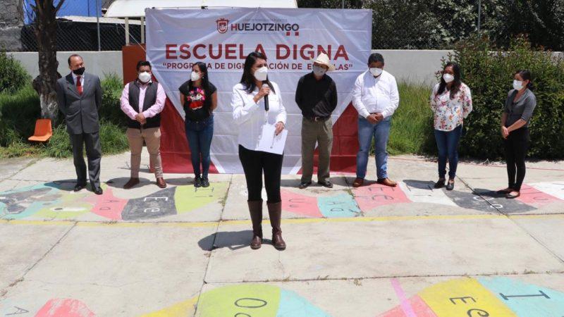 Inician trabajos de dignificación escolar en Huejotzingo