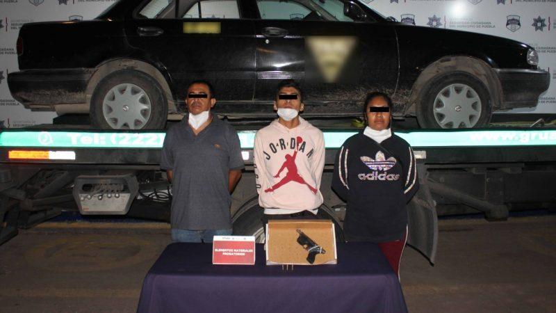 Aseguran a seis personas armadas en la capital de Puebla