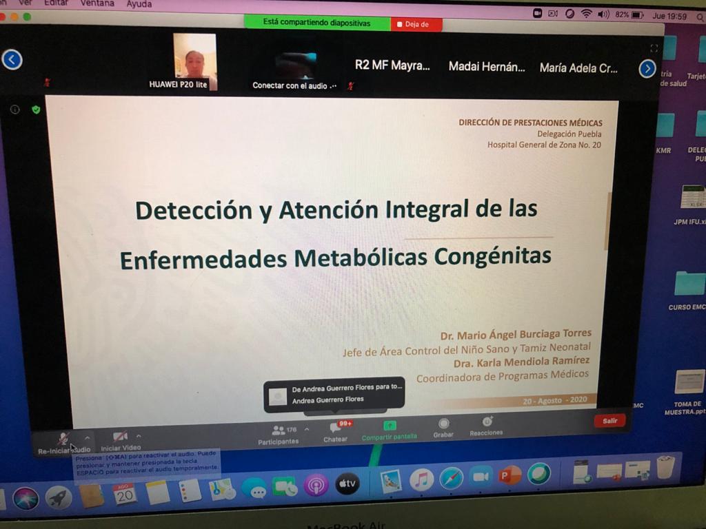 Mediante cursos en línea, capacitan a personal del IMSS en Puebla