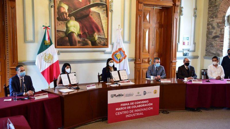 Firma ayuntamiento de Puebla convenio para crear el Centro de Innovación Industrial