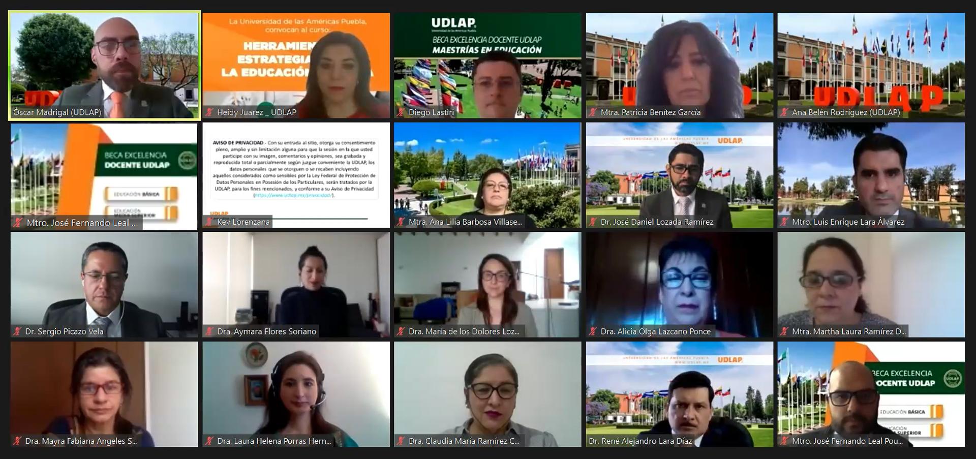 Ofrece UDLAP curso Herramientas y estrategias para la educación en línea