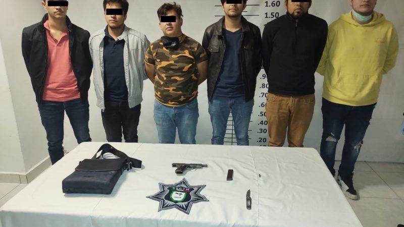 Aseguran en San Andrés Cholula a personas con arma de fuego