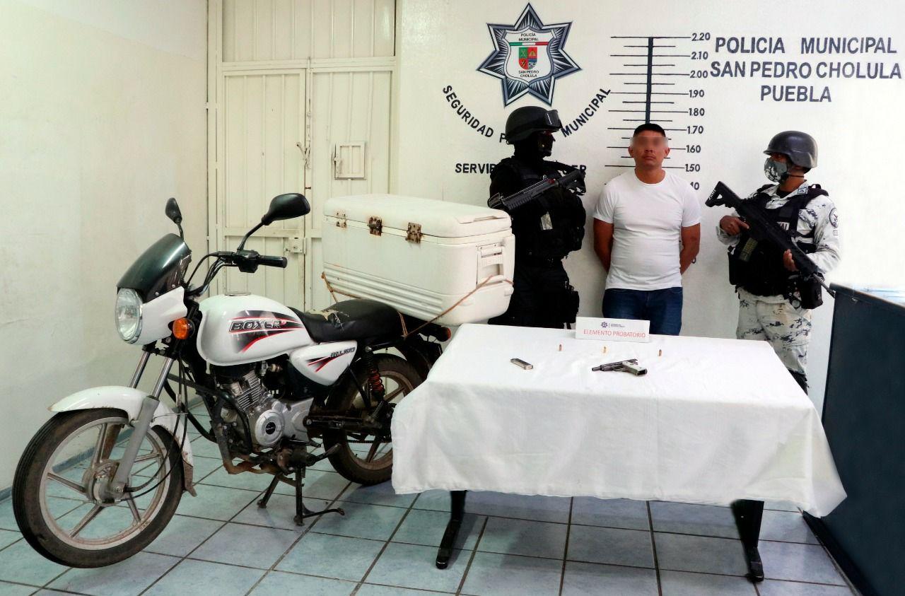 """Aseguran en San Pedro Cholula a """"El Guinda"""""""
