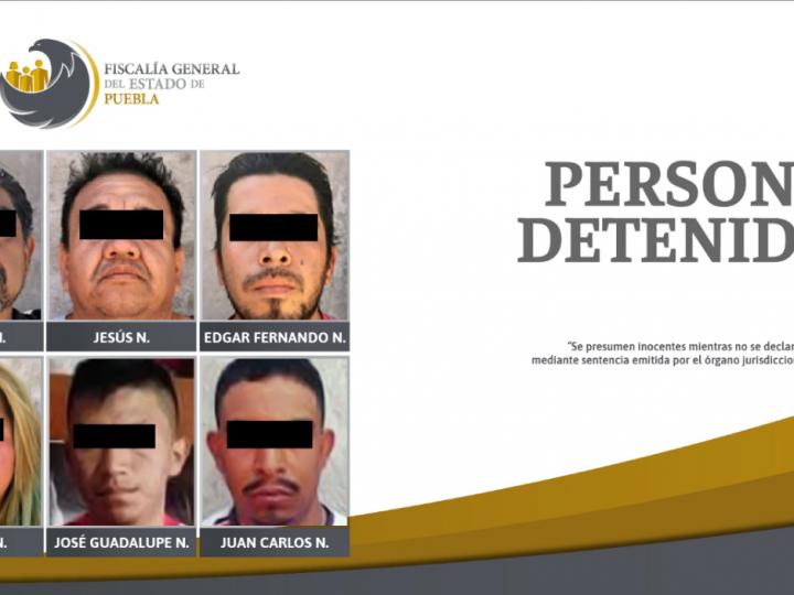 Aseguran a 6 personas en localidad de San Martín Texmelucan