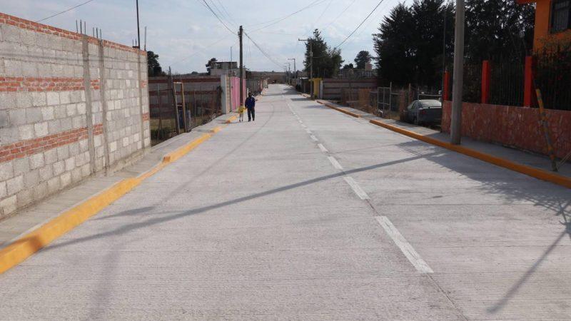 Inauguran obra urbana en Huejotzingo