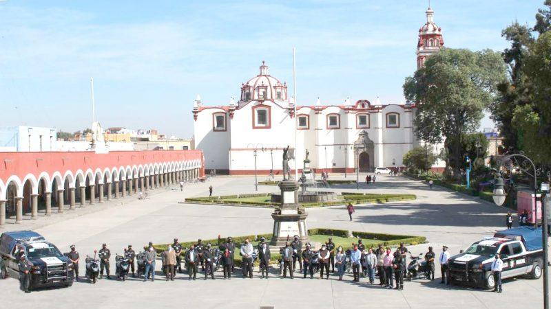Equipan a la policía de San Pedro Cholula