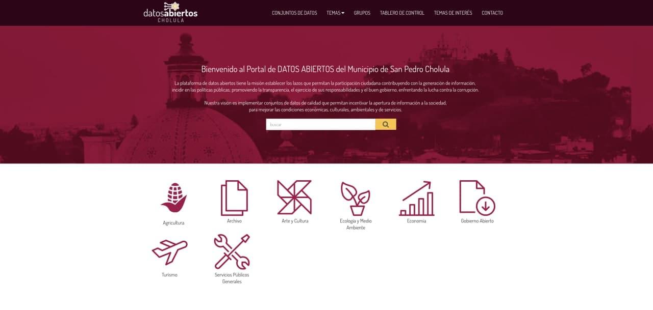 Lanza gobierno de San Pedro Cholula plataforma digital de Datos Abiertos