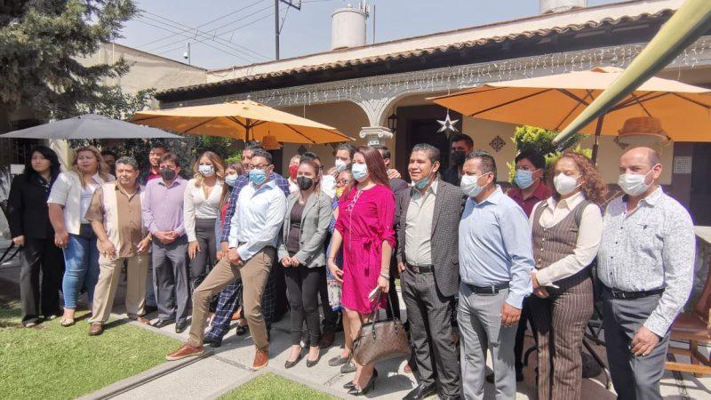 Morenistas y del partido Verde apoyan a Edgar Salomón en Texmelucan