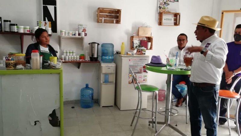 Incentivos al campo y proyectos para juntas auxiliares ofrece Damián Momox en San Pedro Cholula