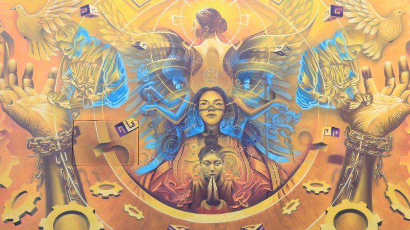 Rinden homenaje a personal de la salud por su lucha contra el Covid-19 con mural