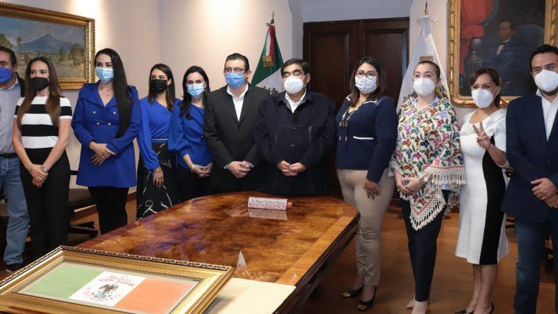 Sostienen encuentro diputados electos del PAN Puebla con Miguel Barbosa