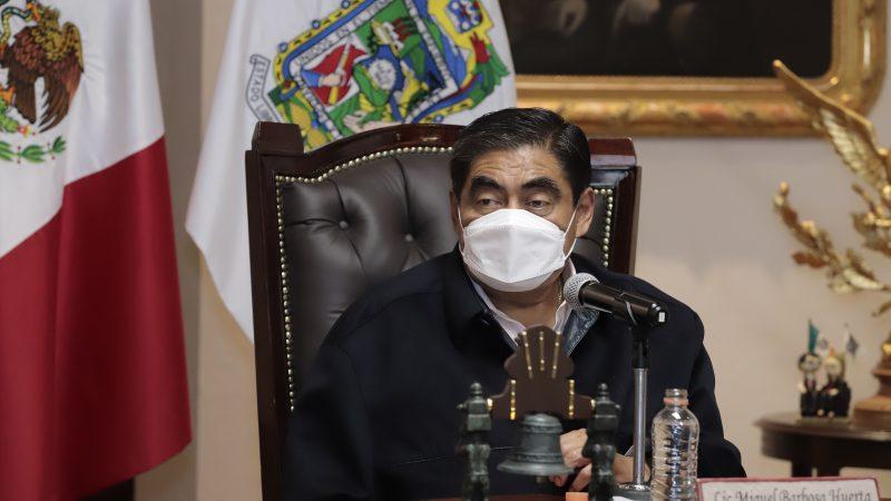 Agradece Barbosa a AMLO por apoyo que enviará a Puebla
