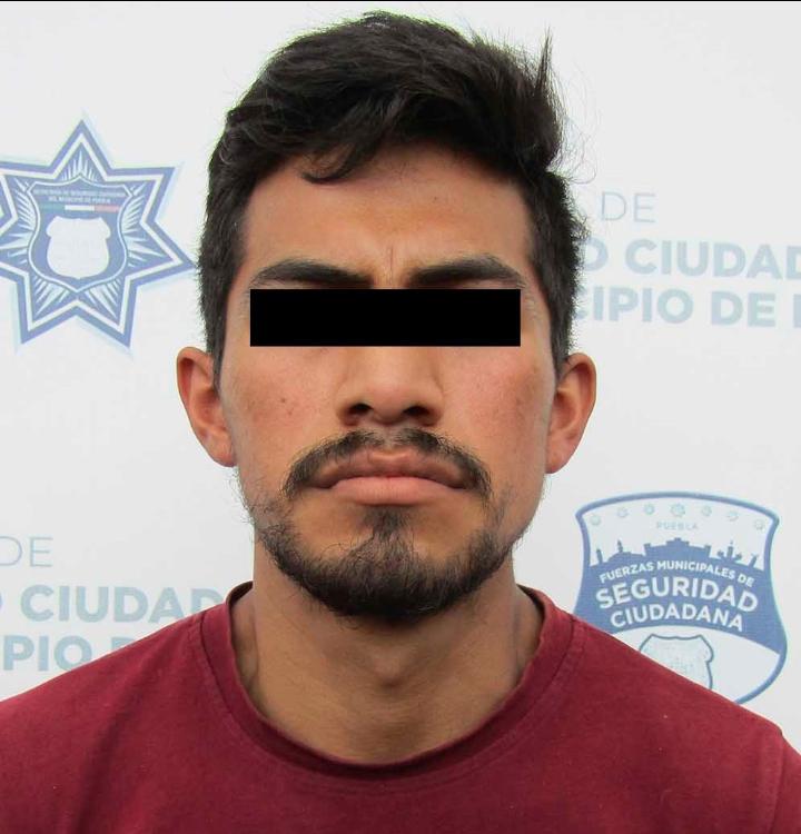 Cae presunto delincuente que operaba en la zona de la Central de Abasto y Xochimehuecan