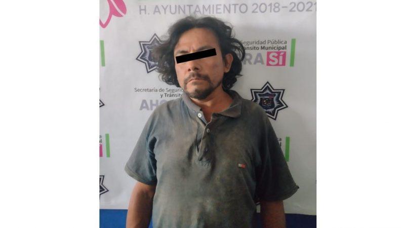 Aseguran a presunto acosador sexual en Xicotepec
