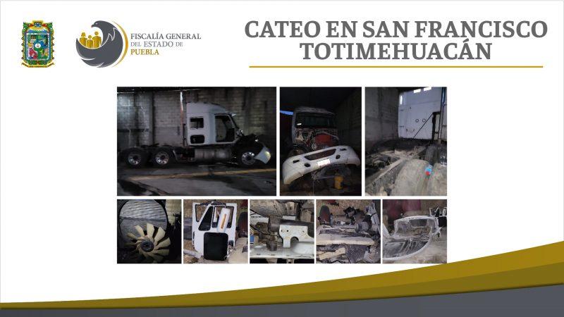 Recuperan tractocamión robado en junta auxiliar de Puebla
